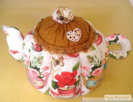 """Большой чайник """"Чайные розы"""" ручной работы на заказ"""