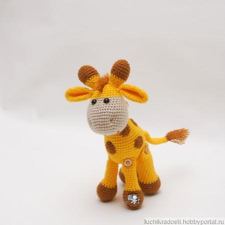 Вязаная мягкая игрушка жираф Стёпа ручной работы на заказ