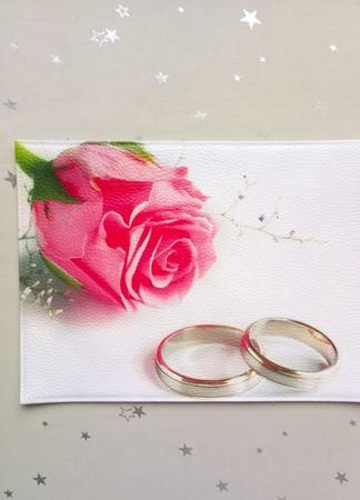 """Обложка на свидетельство о браке """"Совет да любовь"""" ручной работы на заказ"""