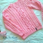 Детский свитер из хлопка от Knit by Heart в Москве