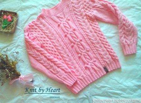 Детский свитер из хлопка от Knit by Heart в Москве ручной работы на заказ