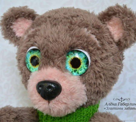 Медвежонок Ананд - игрушка, вязанная крючком ручной работы на заказ