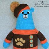 Медведь Арун - игрушка, вязаная крючком