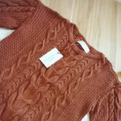 Вязаный свитер с коротким рукавом ручной работы