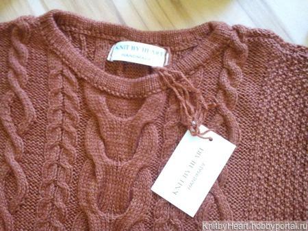 Вязаный свитер с коротким рукавом ручной работы ручной работы на заказ