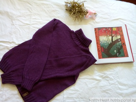 Модный вязаный свитер ручной работы ручной работы на заказ