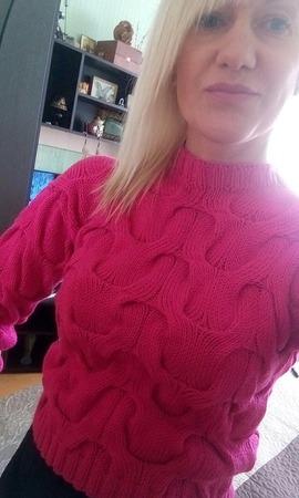 Модный вязаный свитер из хлопка ручная вязка ручной работы на заказ
