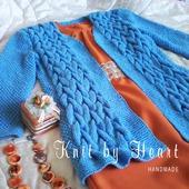 Модный вязаный кардиган длинный от Knit by Heart