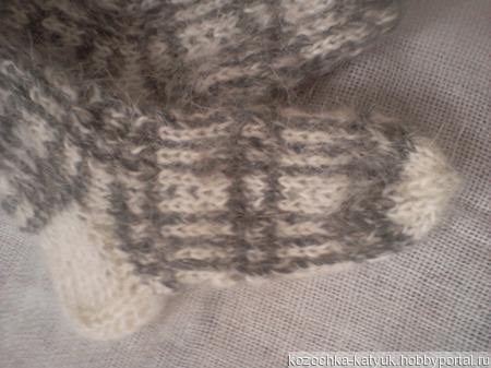 Носочки детские пуховые ручной работы на заказ