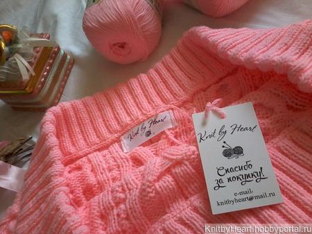 Вязаный свитер Рубан во Владивостоке ручной работы на заказ