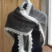 Пуховая косынка  шаль