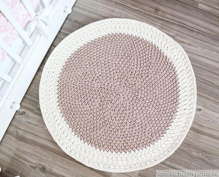 Вязаный коврик из хлопка ручной работы на заказ