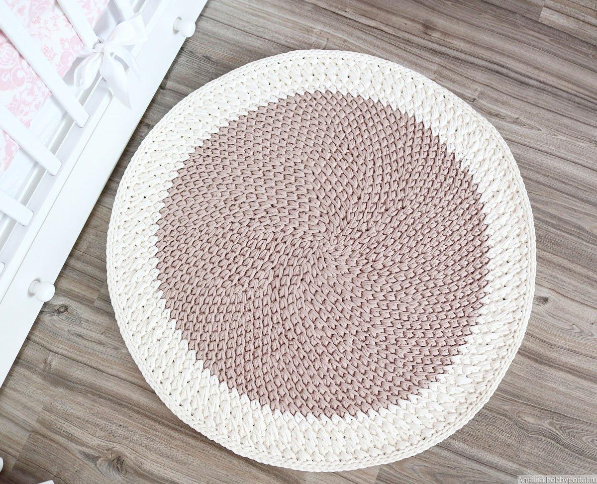 вязаный коврик из хлопка купить в интернет магазине Hobbyportalru