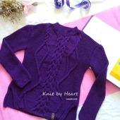 Вязаный хлопковый свитер ручной вязки