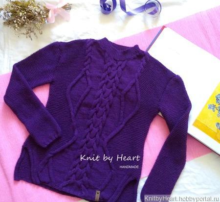 Вязаный хлопковый свитер ручной вязки ручной работы на заказ