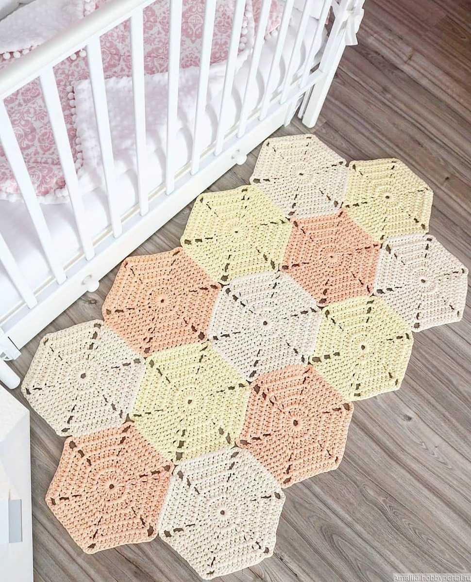вязаный коврик купить в интернет магазине Hobbyportalru с доставкой