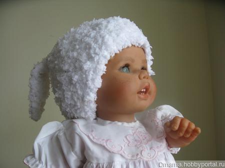 "Детская шапочка ""Зайка"" ручной работы на заказ"