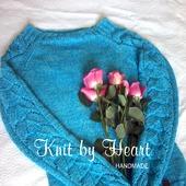 Модный вязаный джемпер Knit by Heart