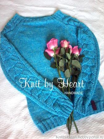 Модный вязаный джемпер Knit by Heart ручной работы на заказ
