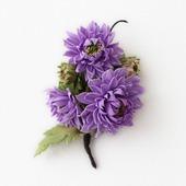Брошь сиреневые цветы хризантемы