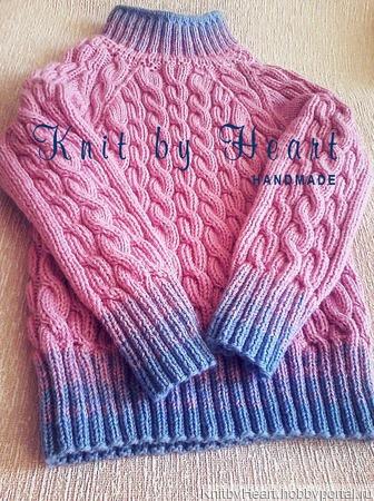 Детский вязаный свитер ручной работы в Москве ручной работы на заказ