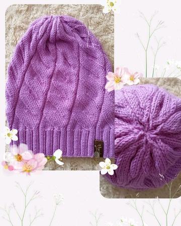 Вязаный комплект: шапка и снуд (весна-осень) ручной работы на заказ