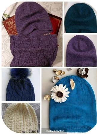 Вязаные шапочки ручной работы на заказ