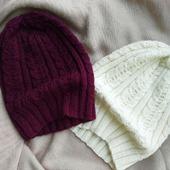 Вязаные шапочки на осень и весну