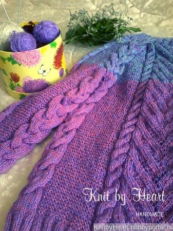 Стильный вязаный свитер ручной вязки в Москве ручной работы на заказ