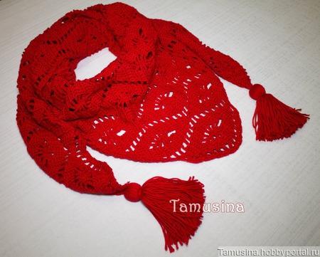 Красный бактус из микнеса для женщины ручной работы на заказ