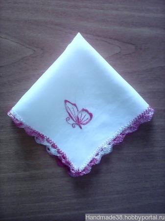 Детские носовые платочки ручной работы на заказ