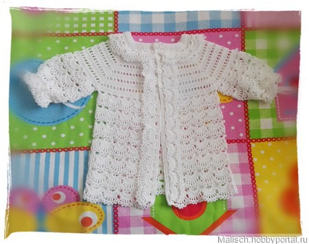 Джемпер для новорожденного малыша ручной работы на заказ
