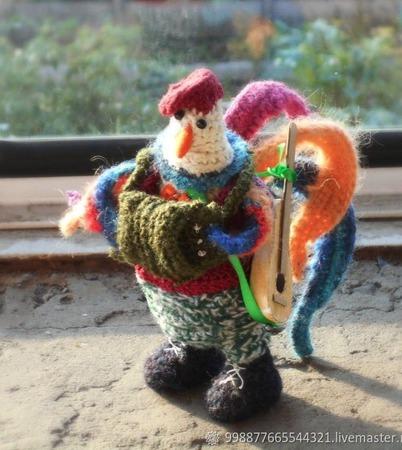 Интерьерная игрушка Петух ручной работы на заказ