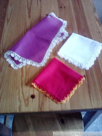 Платочки носовые кружевные 1 ручной работы на заказ
