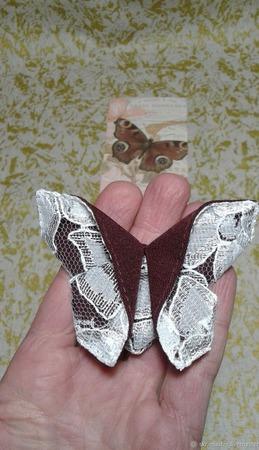 """Брошь-заколка оригами из серии """"Кружевница"""" ручной работы на заказ"""