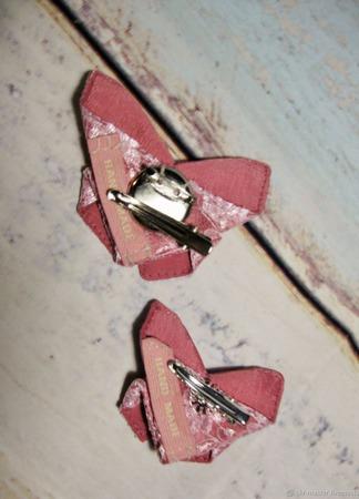 """Брошь-заколка оригами """"Бабочка"""" из серии """"Кружевница"""" ручной работы на заказ"""
