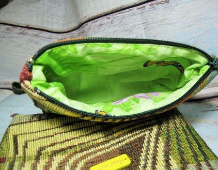 """Косметичка-сумочка из гобелена из серии """"Геометрия"""" ручной работы на заказ"""
