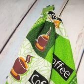 """Кухонные полотенца """"Зелёный кофе"""""""