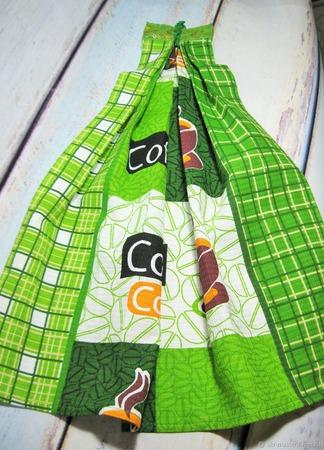 """Кухонные полотенца """"Зелёный кофе"""" ручной работы на заказ"""