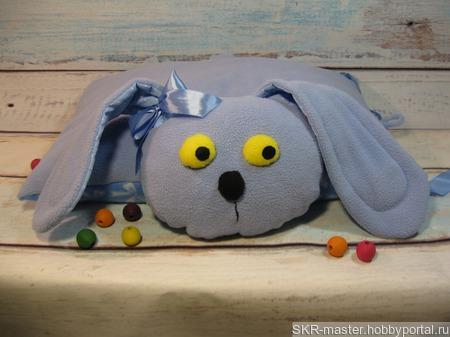 Подушка-игрушка Зайка. ручной работы на заказ