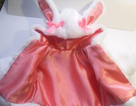 """Шубка для куклы (пупса) """"Зайка"""" розовый ручной работы на заказ"""