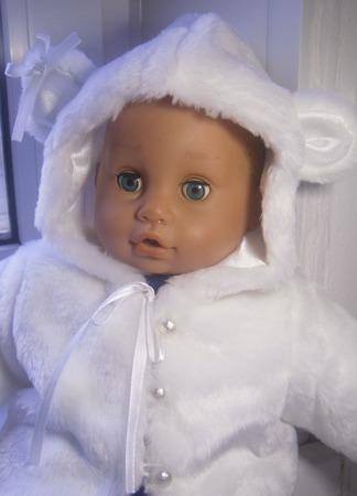 """Шубка для куклы (пупса) """"Белый медведь"""" ручной работы на заказ"""