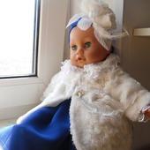 Одежда для куклы - пупса (меховое пальто)
