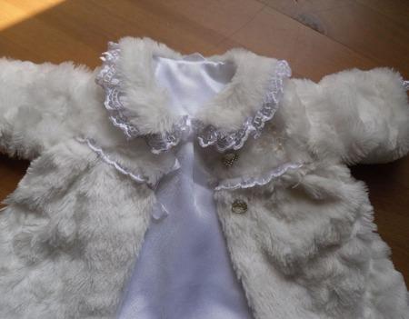 Одежда для куклы - пупса (меховое пальто) ручной работы на заказ