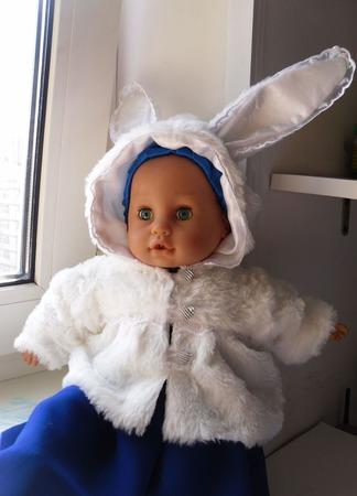 "Одежда для куклы - пупса (шубка ""Зайка"") ручной работы на заказ"