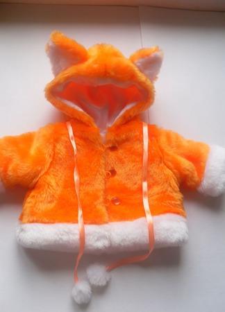 Лисёнок - шубка для куклы (пупса) ручной работы на заказ