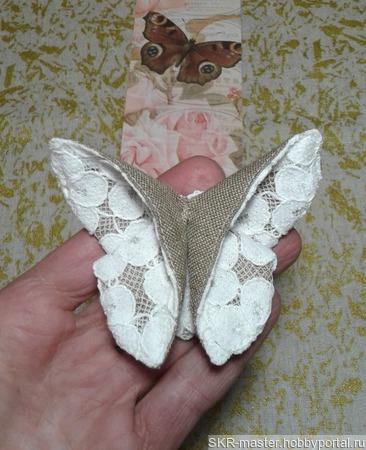 """Брошь-бабочка оригами из серии """"Кружевница"""" ручной работы на заказ"""
