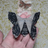 "Брошь-заколка бабочка- оригами из серии ""Кружевница"""