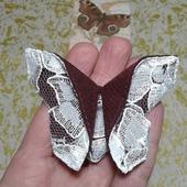 """Брошь-заколка оригами из серии """"Кружевница"""""""