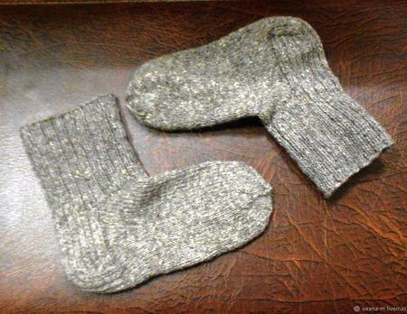 Носки шерстяные классические (унисекс) ручной работы на заказ